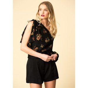A.L.C. 100% Silk Marissa Asymmetrical Floral Top 8